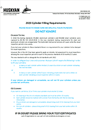 2020 Cylinder Filling Requirements