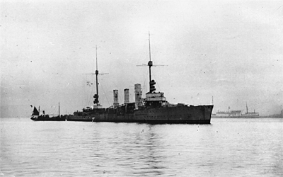 SMS Karlsruhe before her scuttling