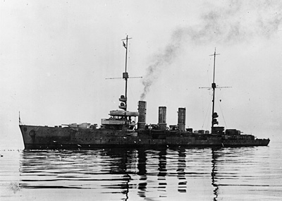 SMS Dresden before her scuttling